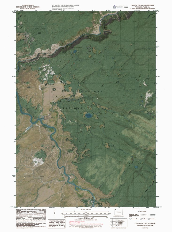 Yellowstone National Park Topographic Map.Yellowstone National Park North Bundle Western Michigan