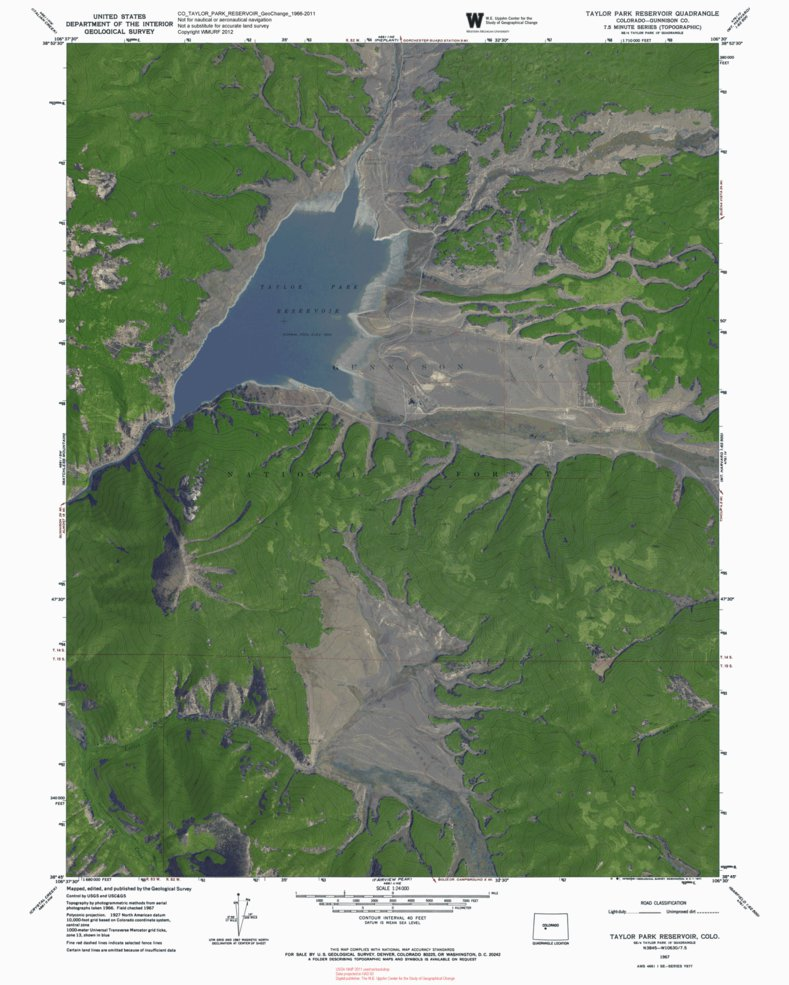 Taylor Park Colorado Map.Co Taylor Park Reservoir Geochange 1966 2011 Western Michigan