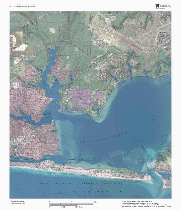 Map Of Fort Walton Beach Florida.Choctawhatchee Bay Florida Bundle Western Michigan University