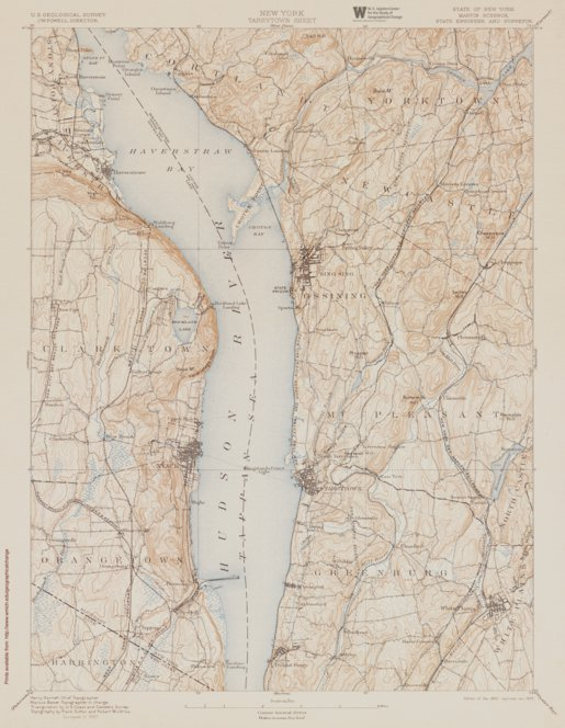 Ny Tarrytown Authoritative Us Topos Historic 1893 Western