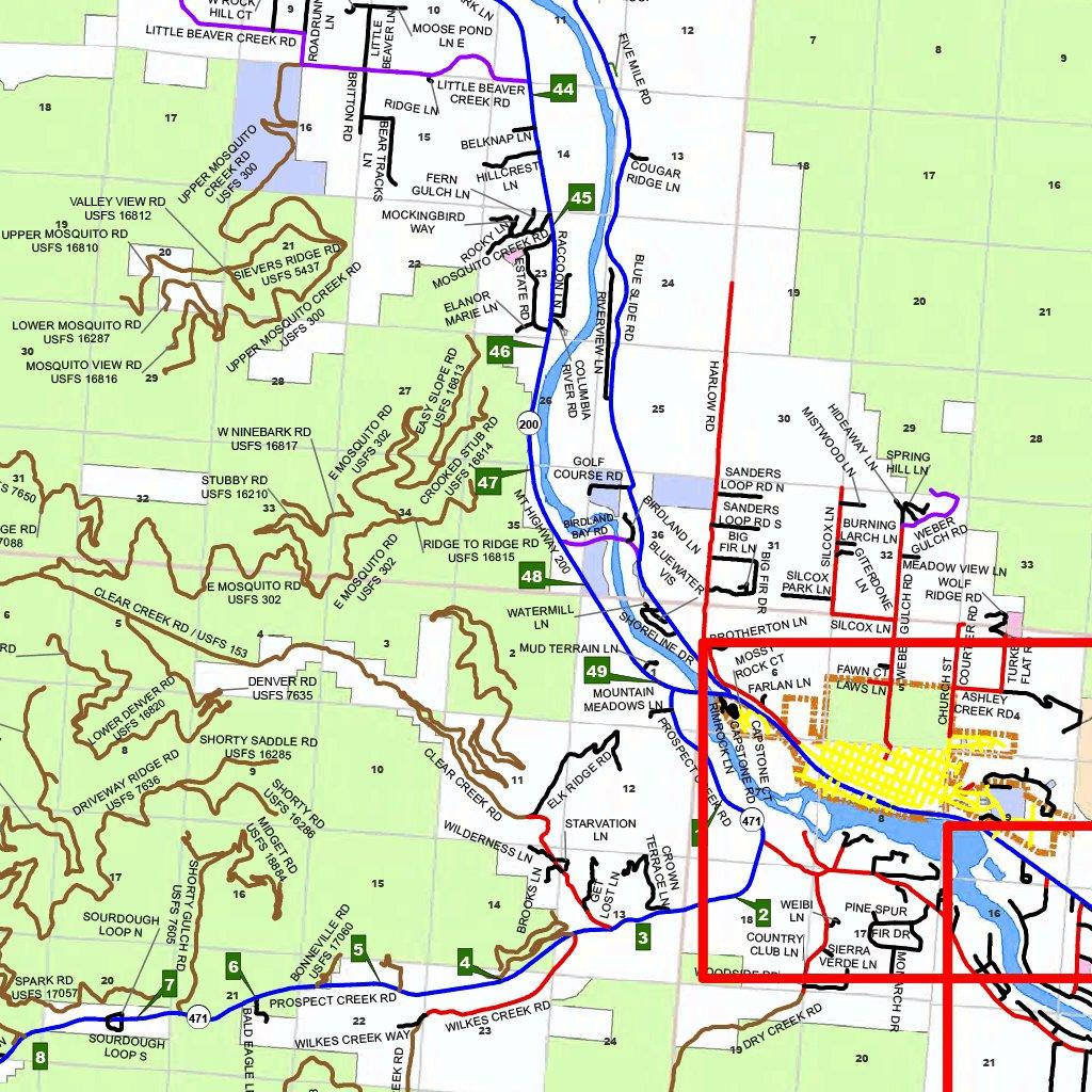 sanders county montana map Sanders County Montana Sanders County Montana Avenza Maps