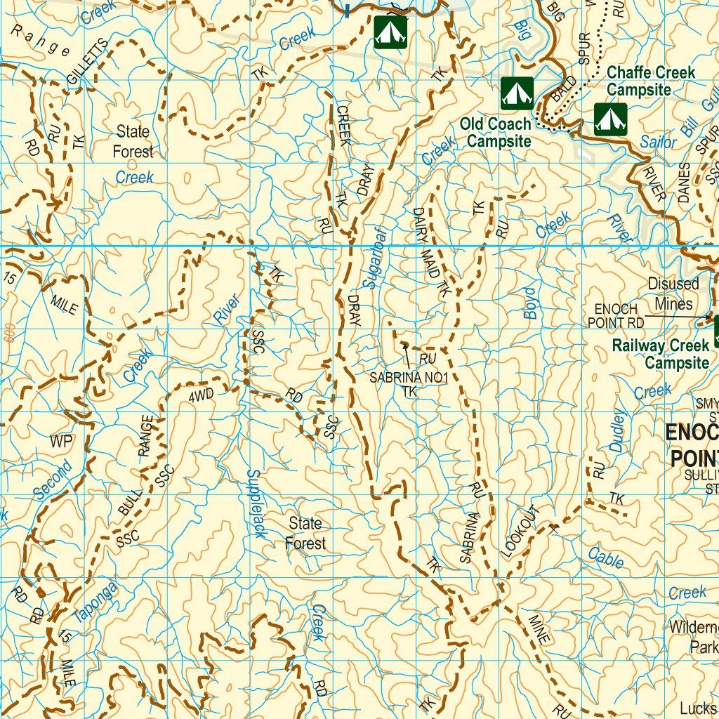 MansfieldBaw Baw FourWheelDrive Map Spatial Vision Avenza Maps