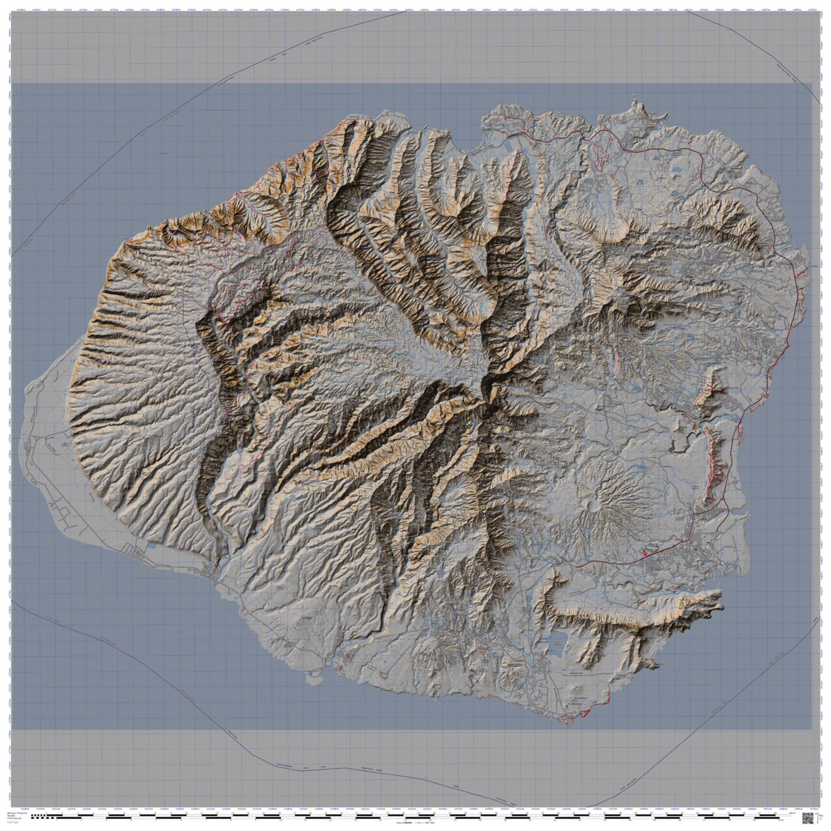 Kauai Trails Topo Map Davenally Avenza Maps