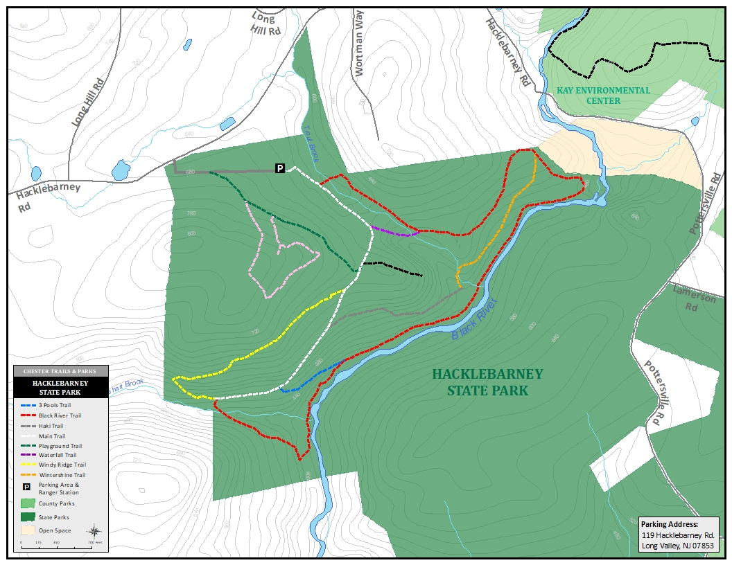 Hacklebarney State Park Map Hacklebarney State Park   Aug. 2017   GeoMedia Solutions   Avenza Maps