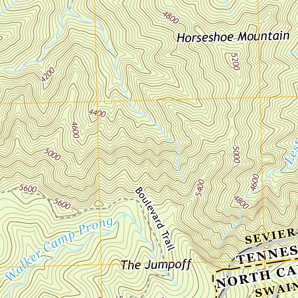 Topographic Map Mountain.Nps Usgs Great Smoky Mountains National Park 2016 Topographic Map