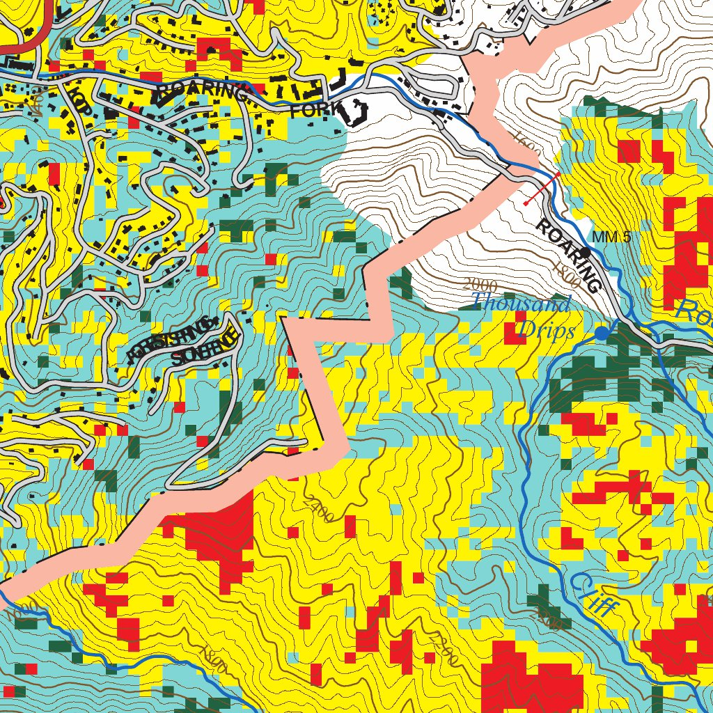 map terrain satellite labels. great smoky mountains national park chimney tops  fire burn