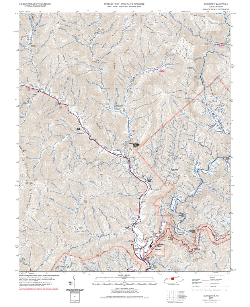 NPS Great Smoky Mountains National Park 2017 Topographic Map ... on smoky mtn map, smoky mountains gatlinburg tn, smoky mountains location on map, great smoky mountains on a map, great smoky mts map, smoky mountains directions, appalachian mountains map, great smoky mountains np map, cades cove smoky mountains map, the smoky mountains map, rocky mountain park map, smoky mountains north carolina map, smoky mountains address, great smoky mountains topographic map, smoky mountains tennessee, garden of the gods park map, boulder mountain park map, white mountain park map, red mountain park map, fire mountain park map,