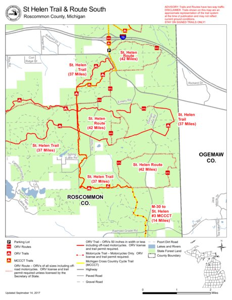 St Helen Orv All Cycle Conservation Club Of Michigan Avenza Maps