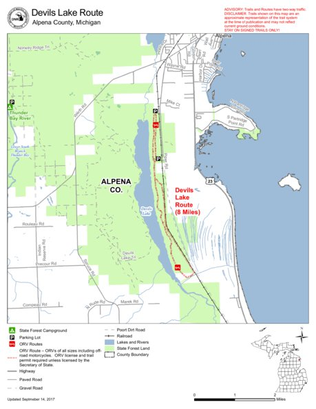 Devils Lake Route Cycle Conservation Club Of Michigan Avenza Maps