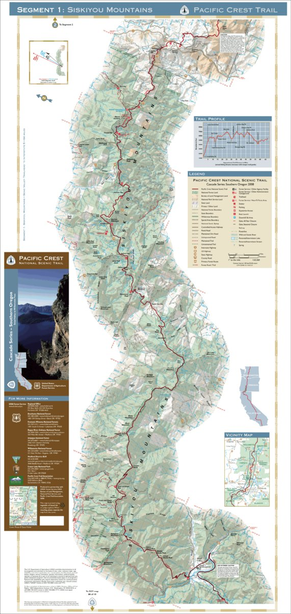 Pacific Crest National Scenic Trail - Map 7 Seg 1 - Southern ...