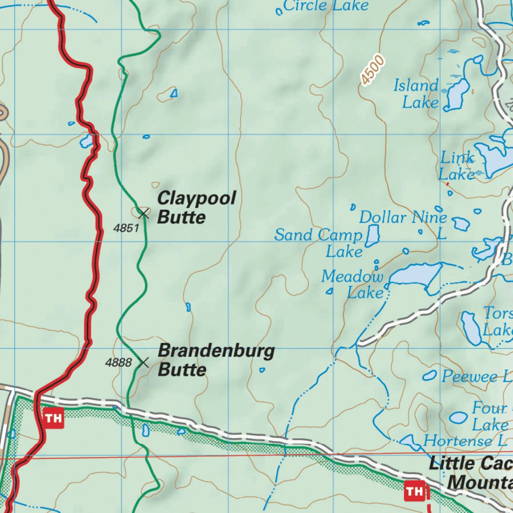 Pacific Crest National Scenic Trail - Map 8 Seg 2 - Northern Oregon ...