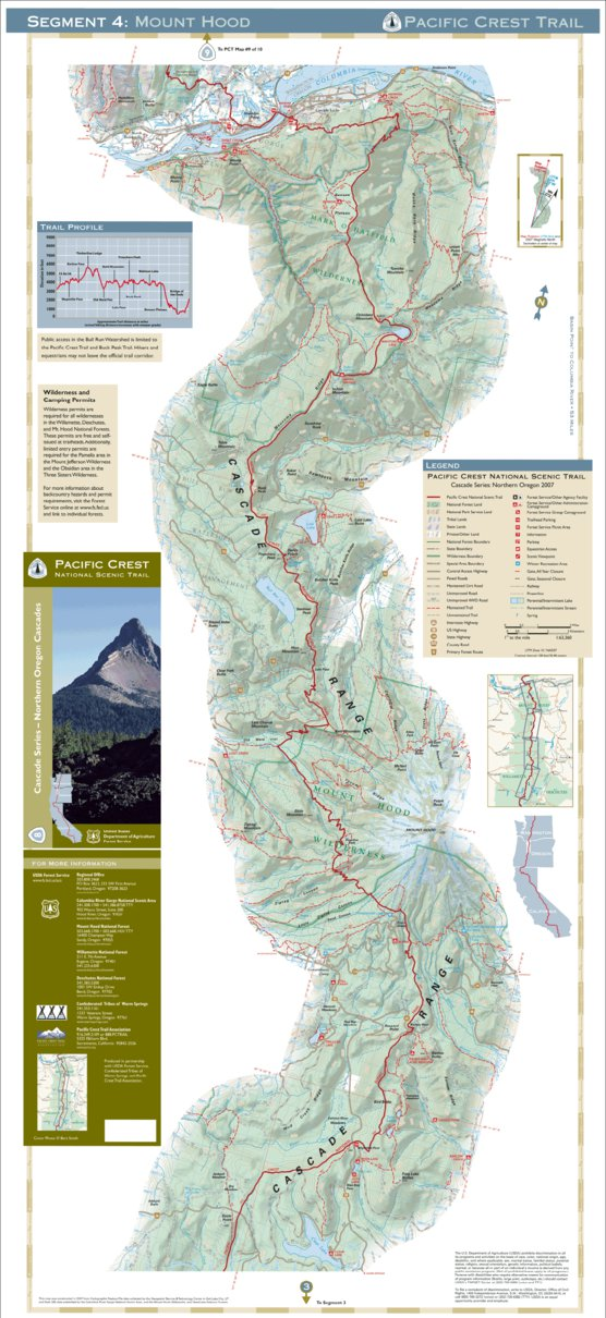 Pacific Crest National Scenic Trail - Map 8 - Northern ...