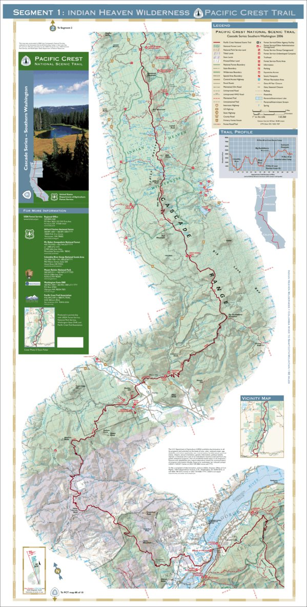 Pacific Crest National Scenic Trail - Map 9 Seg 1 - Southern ...