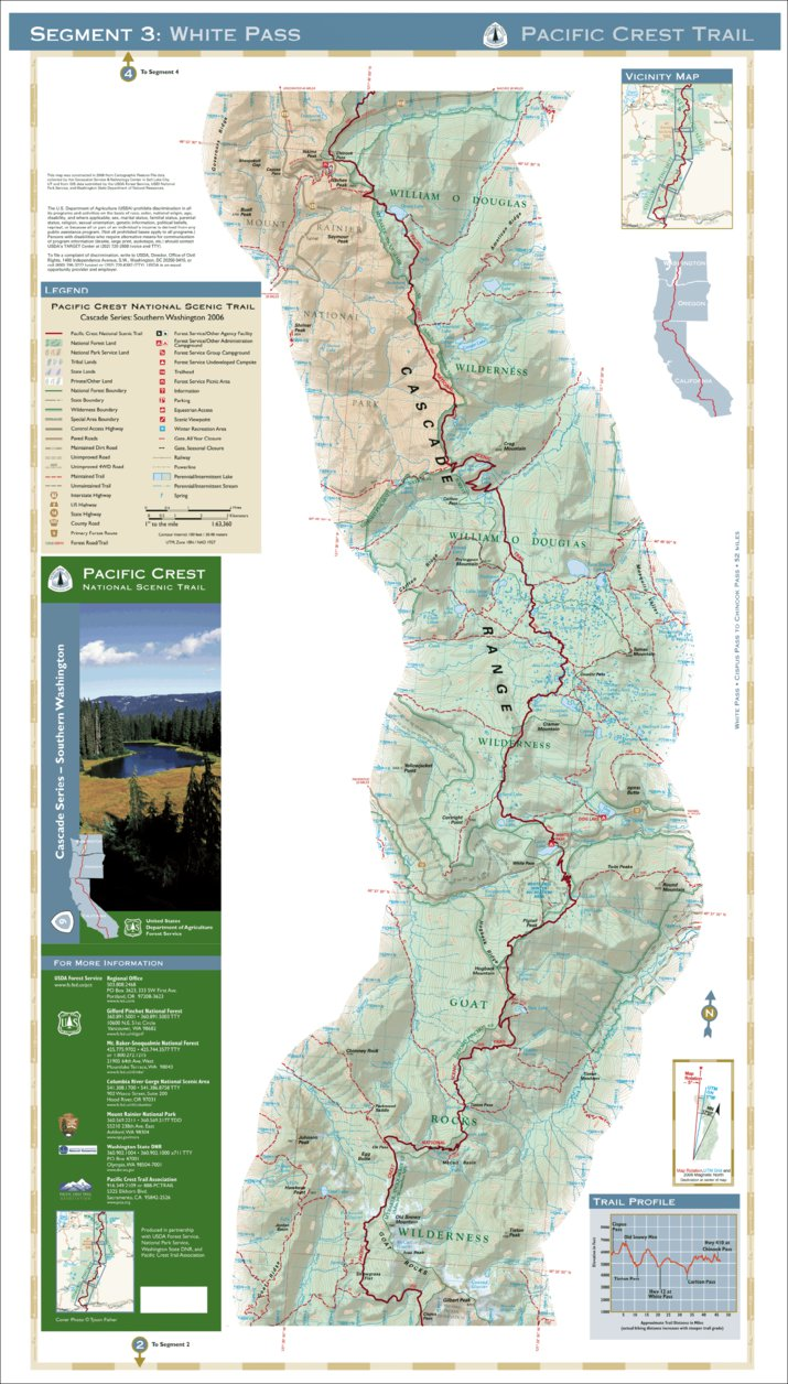 Pacific Crest National Scenic Trail - Map 9 Seg 3 - Southern ...