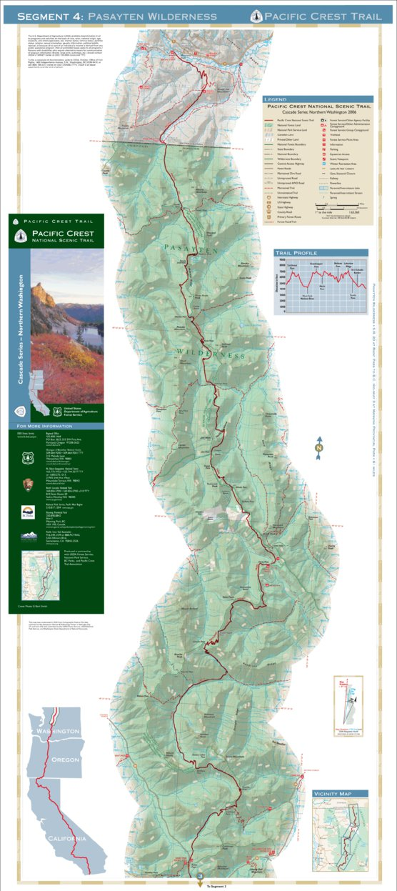 Pacific Crest National Scenic Trail - Map 10 Seg 4 ...