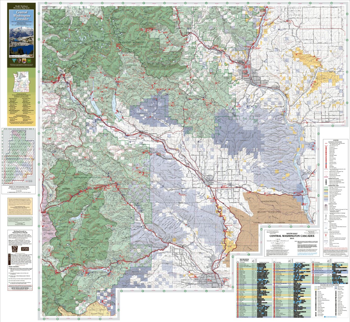 Central Washington Cascades Recreation Map South - US Forest Service on