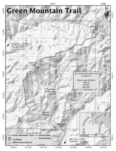 Green Mountain Trail - US Forest Service R6 - Avenza Maps