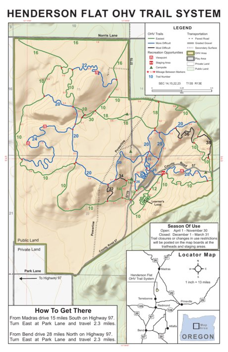 Henderson Flats OHV Trail System US Forest Service R6 Avenza Maps