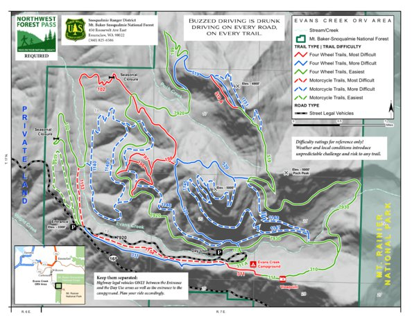 Evans Creek ORV Area - Mount Baker-Snoqualmie National Forest - US ...