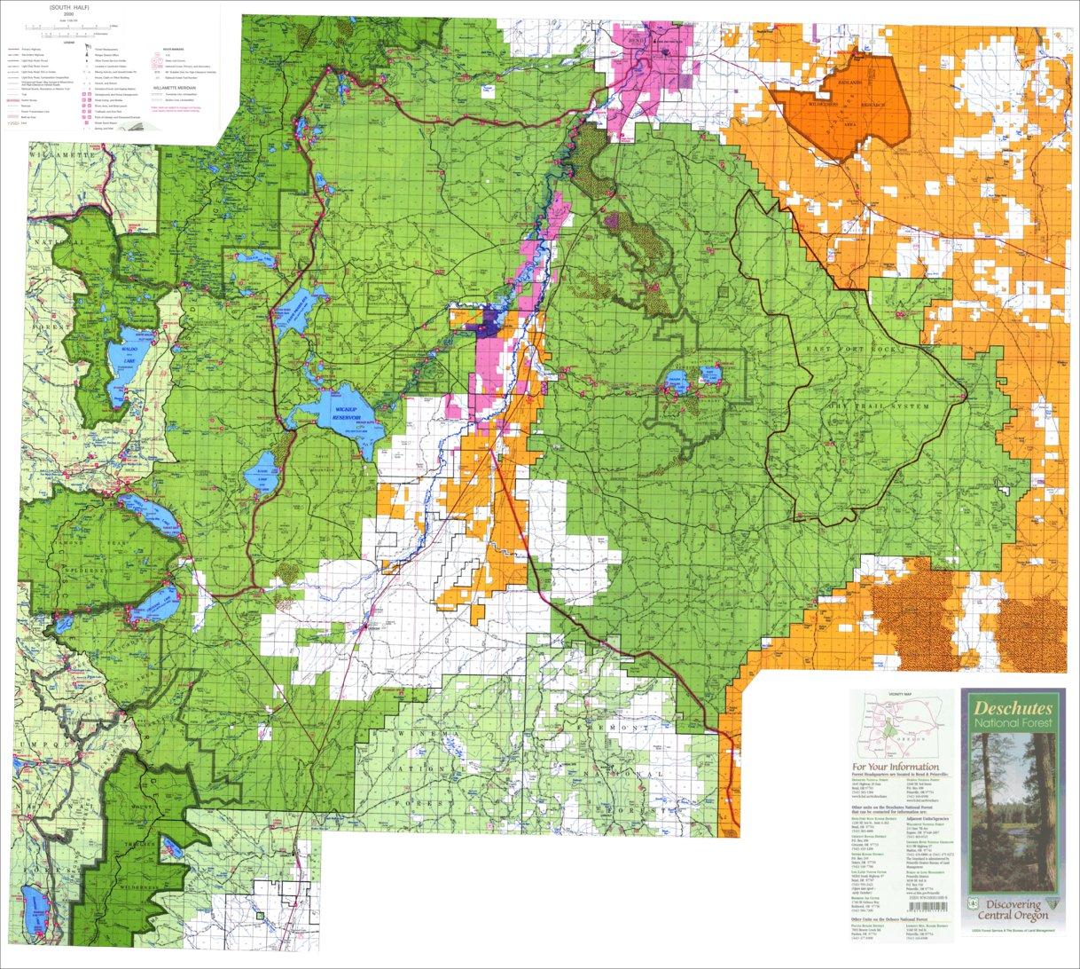 on deschutes national forest map