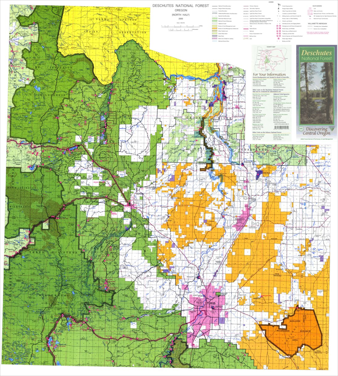 Deschutes National Forest Visitor Map North - US Forest Service R6 on