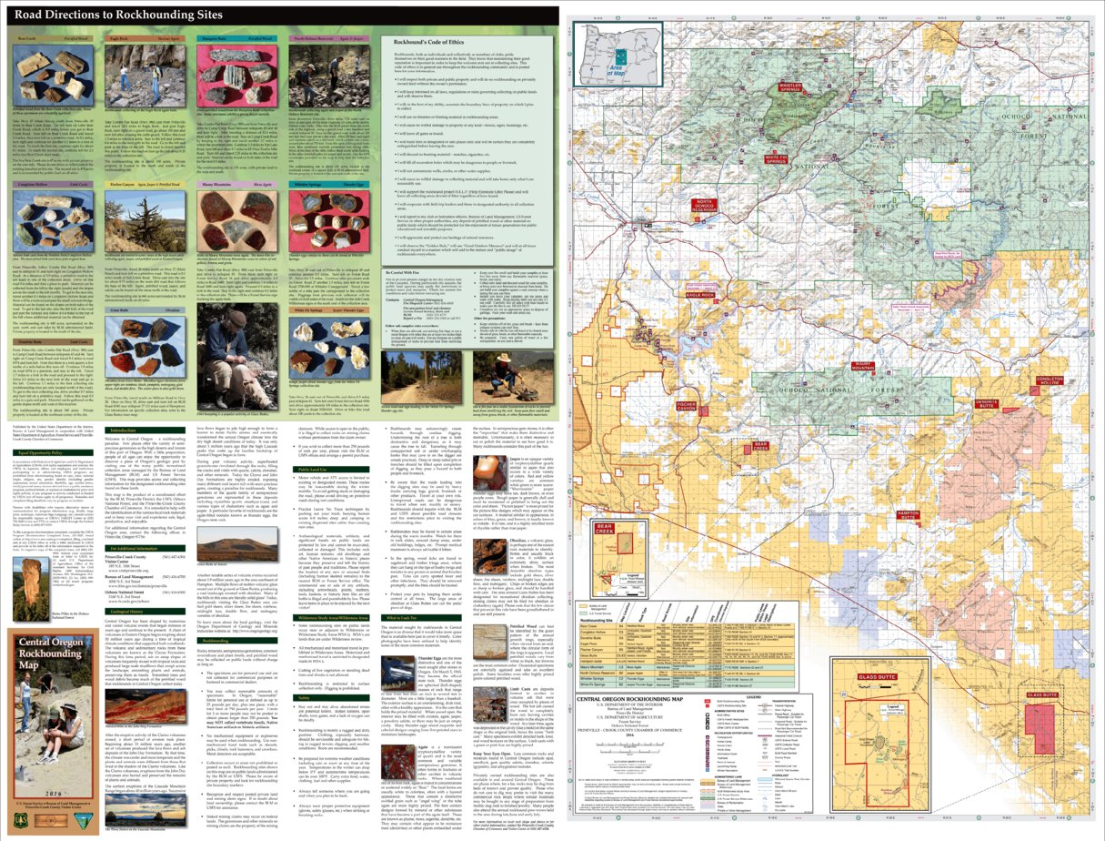 Rockhounding Oregon Map Central Oregon Rockhounding Map   US Forest Service R6   Avenza Maps
