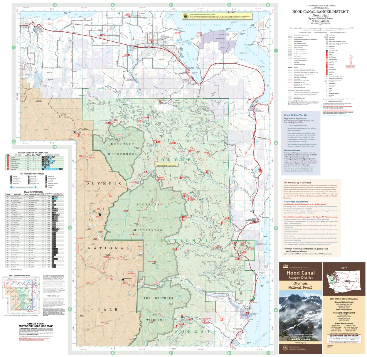 Hood Canal Ranger District Map North - US Forest Service R6 - Avenza ...