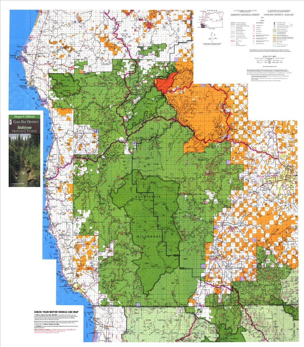 Siskiyou National Forest - Coos Bay District Recreation Map ... on shasta national forest map, carson national forest map, ashley national forest map, national forest campground map, winema national forest map, ottawa national forest map, malheur national forest map, six rivers national forest map, finger lakes national forest map, klamath national forest map, sitgreaves national forest map, wallowa-whitman national forest map, humboldt-toiyabe national forest map, mendocino national forest map, mississippi national forest map, mt. baker national forest map, green mountain national forest map, flathead national forest map, white mountain national forest map, oregon national forest map,