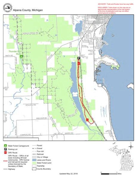 Devils Lake Route Mi Dnr Avenza Maps