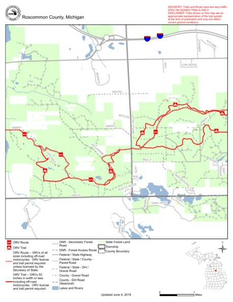 St Helen Trail And Route West Mi Dnr Avenza Maps