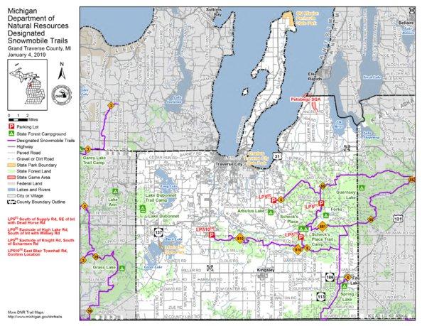 Grand Traverse County Snowmobile Trails - MI DNR - Avenza Maps