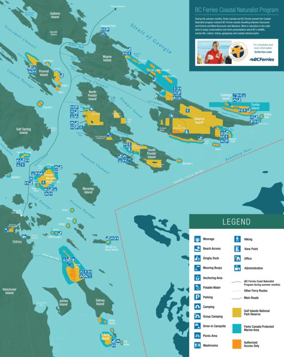Gulf Islands National Park - Full Park Map - Parks Canada - Avenza Maps