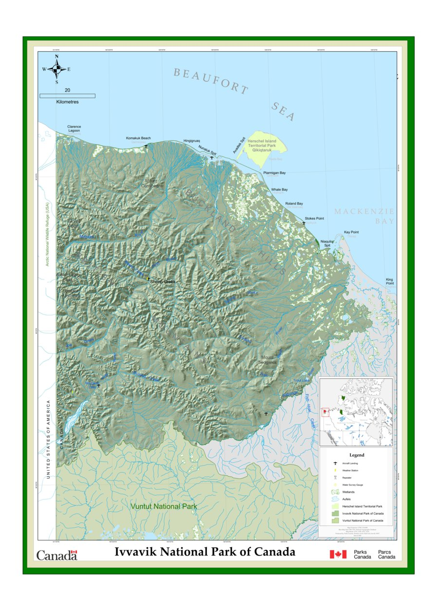 Ivvavik National Park - Full Park Map - Parks Canada ... on canada new york map, canadian parks map, canada reserves map, canada hospitals map, ecuador national park map, fun canada map, canada fall nature, banff national park area map, pacific rim national park reserve map, point pelee national park map, canada roads map, canada transportation map, waterton lake trails map, north american national park map, canada train stations map, canada beaches map, canada rail lines map, mount st helens national park map, canada animals map, auyuittuq national park soil map,