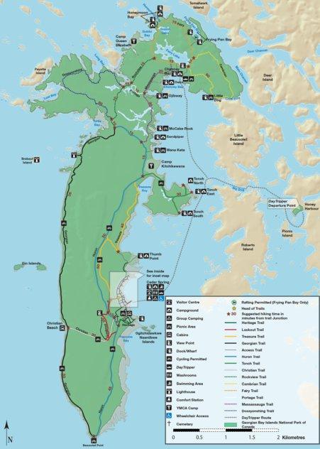 Georgian Bay Canada Map Georgian Bay Islands   Full Park Map   Parks Canada   Avenza Maps