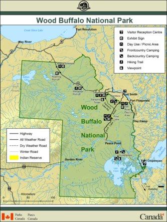 Wood Buffalo National Park - Full Park Map - Parks Canada - Avenza Maps