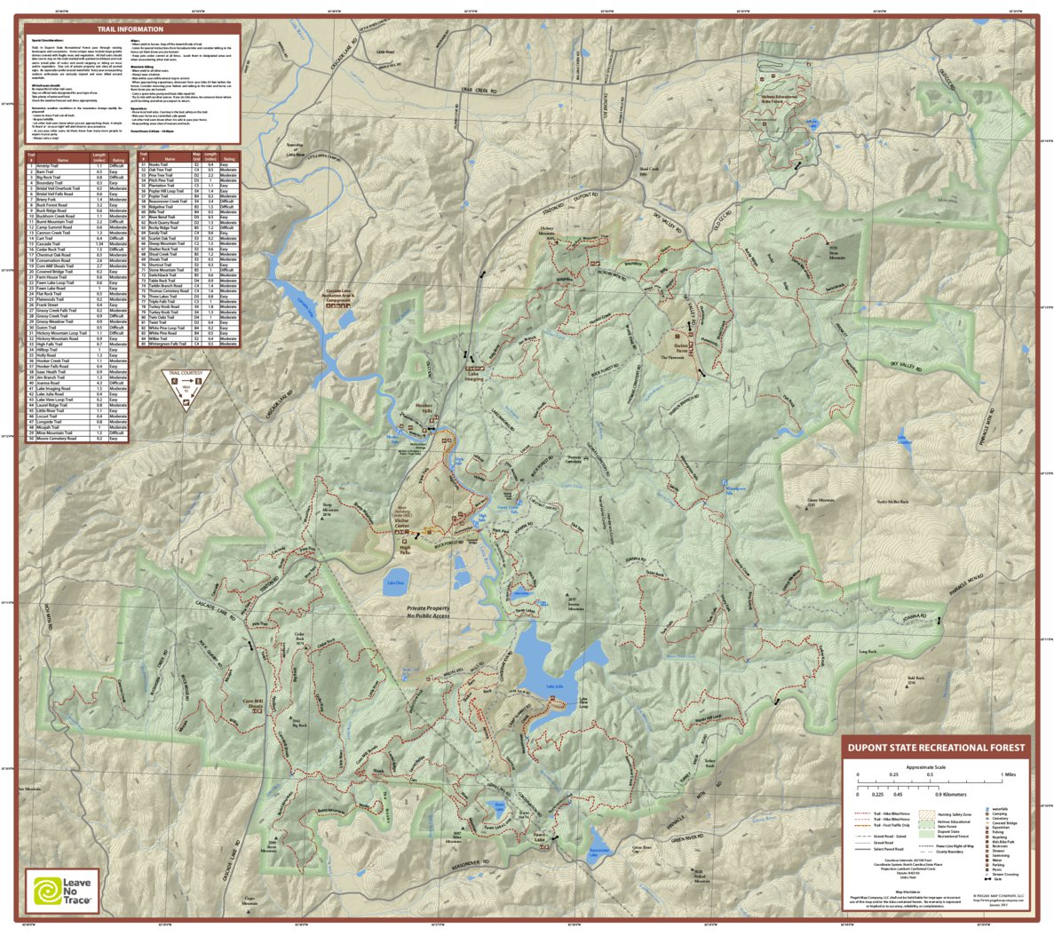DuPont State Recreational Forest - Pisgah Map Company, LLC - Avenza on