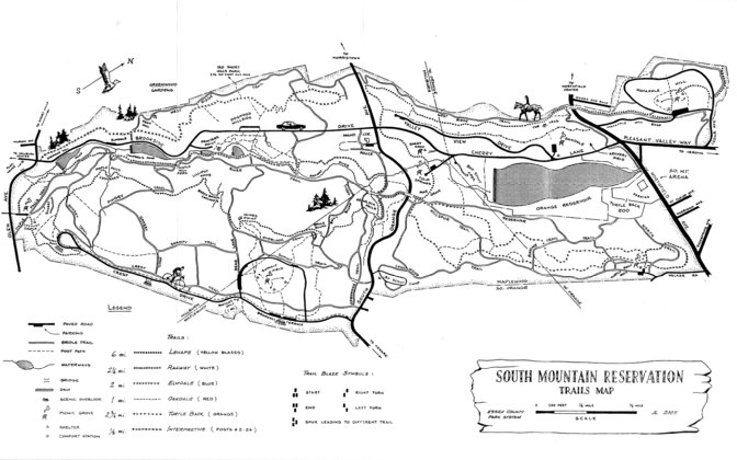 South Mountain Reservation Trail Map - Avenza Systems Inc. - Avenza on