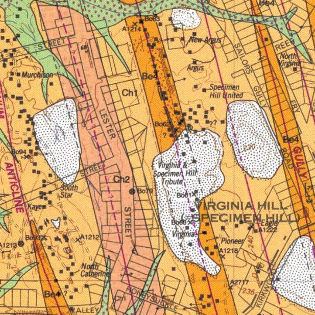 Bendigo Eaglehawk Goldfield Geo Wombat mining Avenza Maps