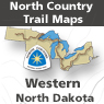 North Country Trail in West Central North Dakota (ND Maps 001 -024)