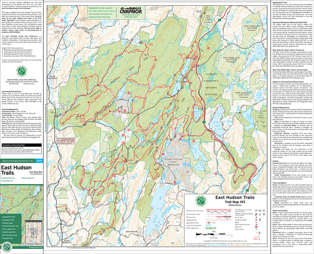 103 - East Hudson (Fahnestock) - 2014 - Trail Conference