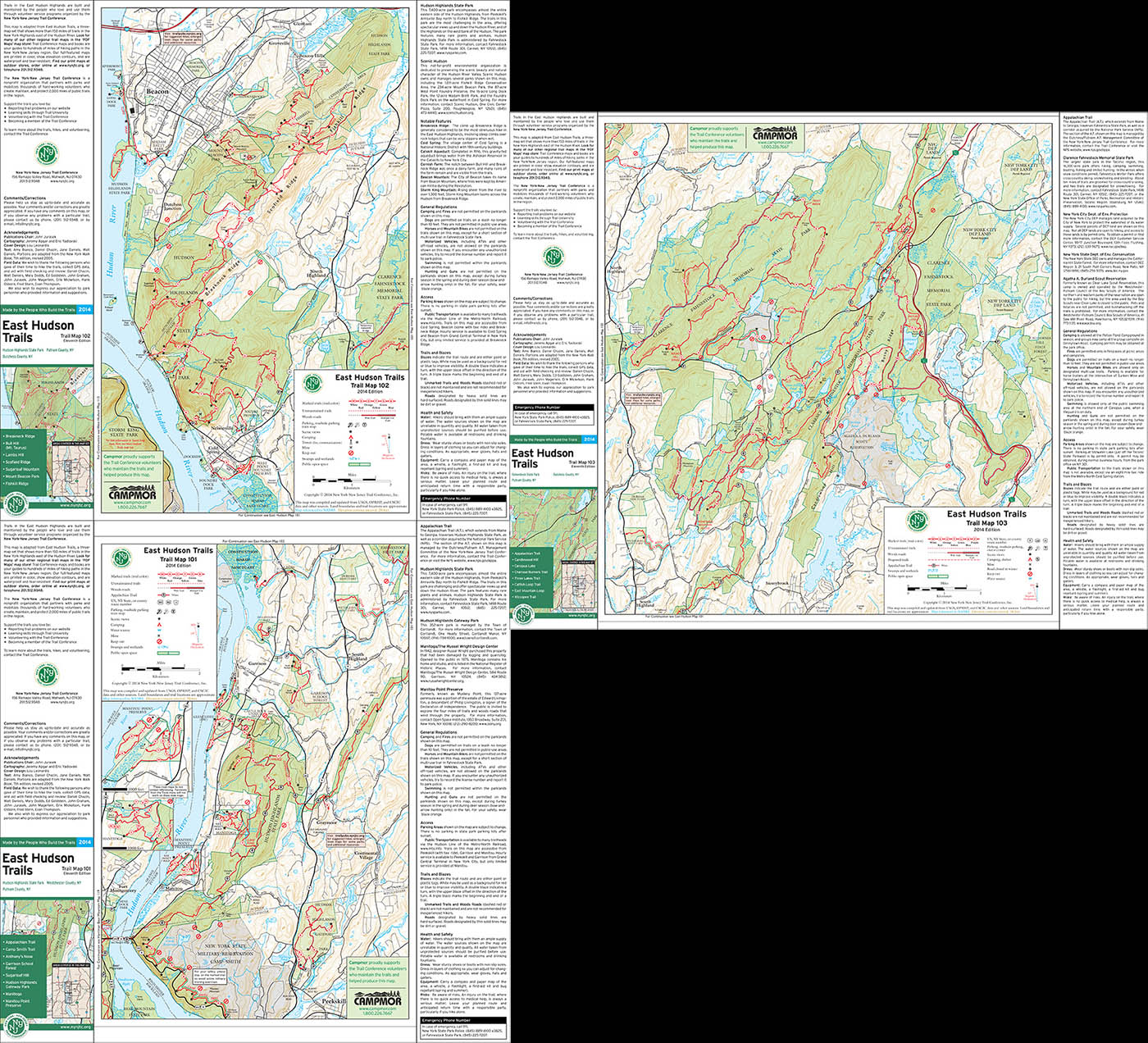 Bundle - 3-Map East Hudson - 2014 - Trail Conference