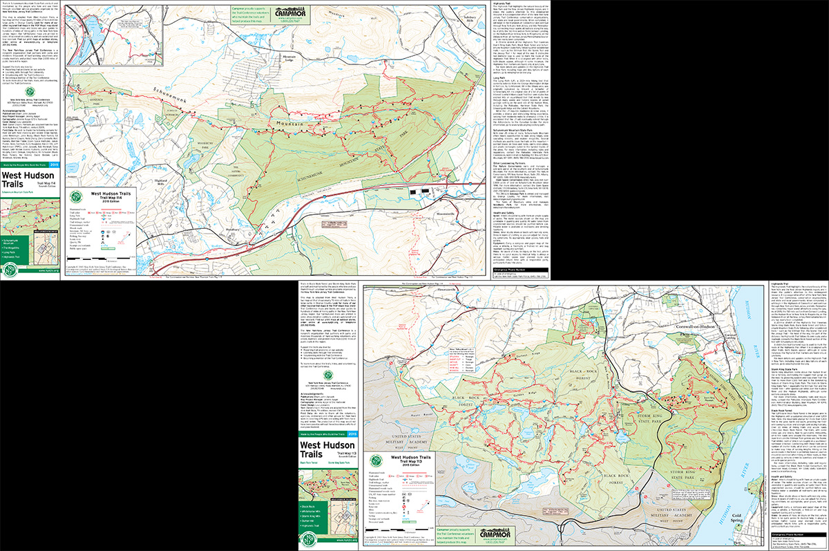 Bundle - 2-Map West Hudson - 2015 - Trail Conference