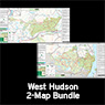 West Hudson (2-Map Bundle) : 2019 : Trail Conference