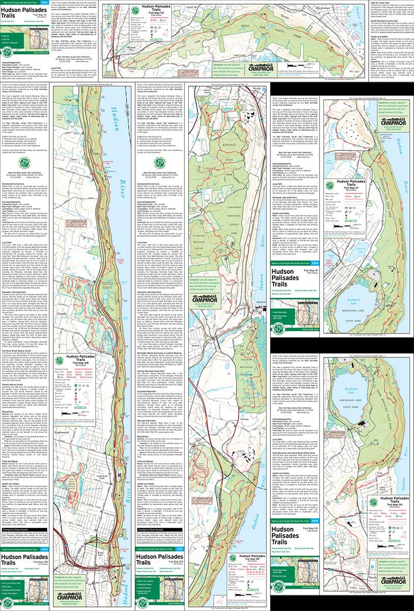 Bundle - 5-Map Hudson Palisades - 2014 - Trail Conference