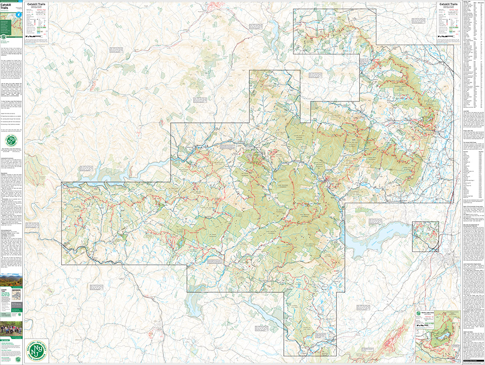 Bundle - Combined Catskill on Single Map (Expanded Coverage) - 2016 - Trail Conference