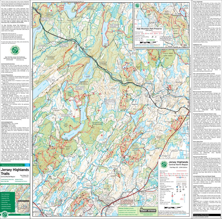 125 - Jersey Highlands (East) - 2016 - Trail Conference