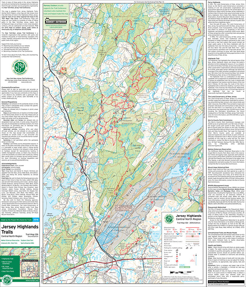 126 - Jersey Highlands (West) - 2016 - Trail Conference