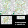 Bundle - 4-Map Jersey Highlands - 2016 - Trail Conference