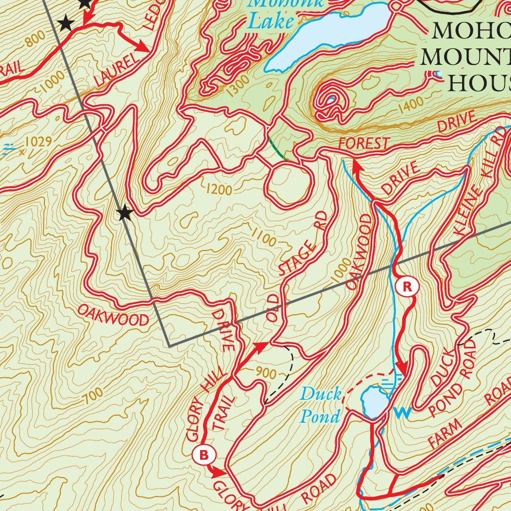 Mohonk Preserve Trail Map on
