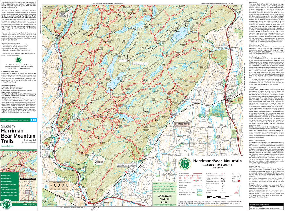 118 - Harriman-Bear Mountain (South) - 2016 - Trail Conference
